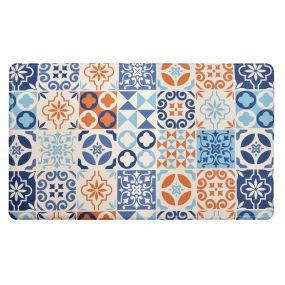 CARPET PVC 76X46X1 TILES ANTI-FATIGUE BLUE