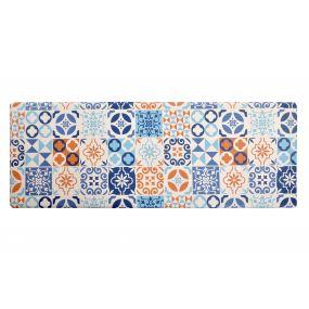 CARPET PVC 120X44X1 TILES ANTI-FATIGUE BLUE