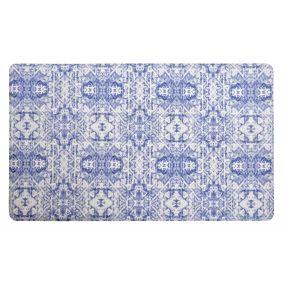 CARPET PVC 76X46X1 ETHNIC ANTI-FATIGUE BLUE