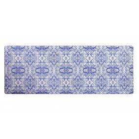 CARPET PVC 120X44X1 ETHNIC ANTI-FATIGUE BLUE