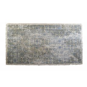 CARPET COTTON 180X120X1 TILES BLUE