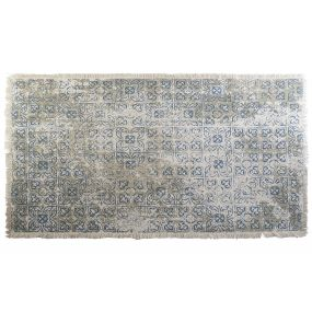CARPET COTTON 230X160X1 TILES BLUE