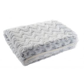 BLANKET POLYESTER 130X170 260 GSM. WHITE