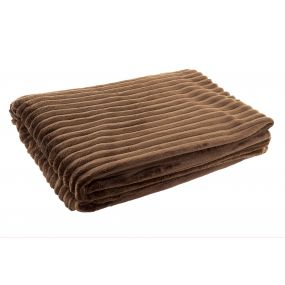 BLANKET POLYESTER 130X170 250 GSM. BROWN