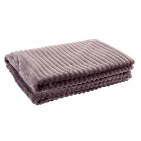 BLANKET POLYESTER 150X200 380 GSM. MAUVE