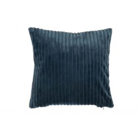 CUSHION POLYESTER 45X10X45 BLUE
