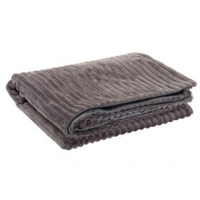 BLANKET POLYESTER 130X170 BASIC GREY