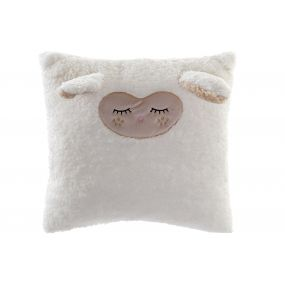 CUSHION POLYESTER 45X45 450 GR. SMALL SHEEP WHITE