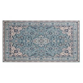 CARPET POLYESTER 120X160X0,5 000 GSM. ETHNIC BLUE