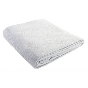 QUILT POLYESTER 180X260 285 GSM. WHITE