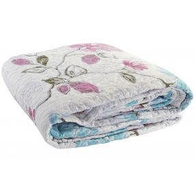 QUILT COTTON POLYESTER 240X260 285 GSM. FLOWERS