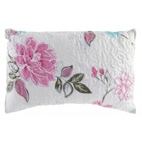 CUSHION POLYESTER 60X40 400 GR. FLOWERS