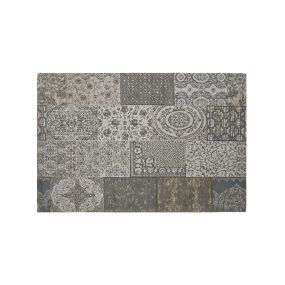 CARPET COTTON POLYESTER 120X180X1 PATCHWORK GREY