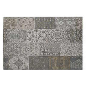 CARPET COTTON POLYESTER 162X242X1 PATCHWORK GREY