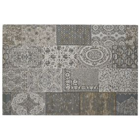 CARPET COTTON POLYESTER 200X295X1 PATCHWORK GREY