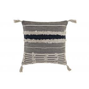 CUSHION COTTON 45X45 FLECOS GREY