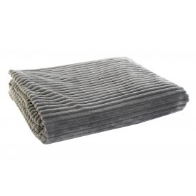 BLANKET POLYESTER 150X200X2 260 GSM. BASIC GREY