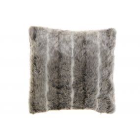 CUSHION POLYESTER 45X10X45 620 GR HAIR GREY