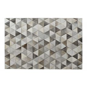 CARPET LEATHER POLYESTER 120X180X1 LIGHT GRAY