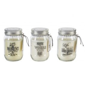 CANDLE GLASS WAX 7X12 PHRASES 3 MOD.