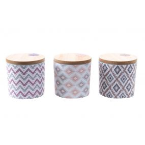 CANDLE FRAGRANCE STONEWARE 8X8 400 GR TOP 3 MOD.