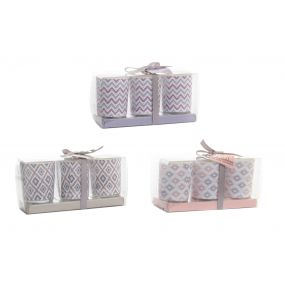 CANDLE SET 3 FRAGRANCE GLASS 5X6 3 MOD.