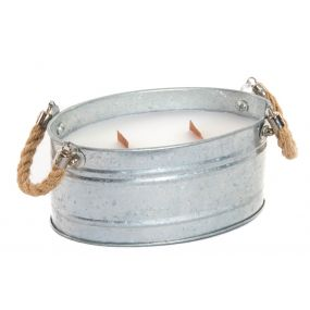 CANDLE METAL ROPE 17X10X8 GALVANIZED