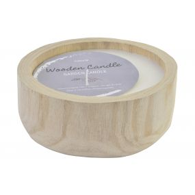 CANDLE WAX WOOD 20X20X7,5 560 GR. NATURAL BROWN