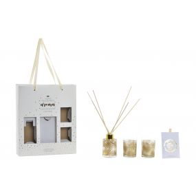 FRAGANCE DIFFUSER SET 3 WAX 6,5X6,5X9,5 80 ML. SHE