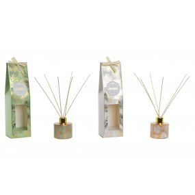 FRAGANCE DIFFUSER GLASS 7X7X28 80 ML. CHIC 2 MOD.