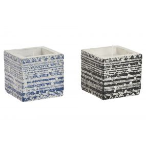 CANDLE CEMENT 8,3X8,3X8 AGED 2 MOD.