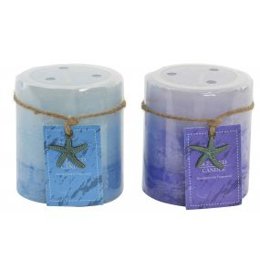 CANDLE WAX FRAGRANCE 7X7X7 225 GR. STAR 2 MOD.