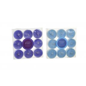 CANDLE SET 9 WAX FRAGRANCE 4X4X1,5 2 MOD.