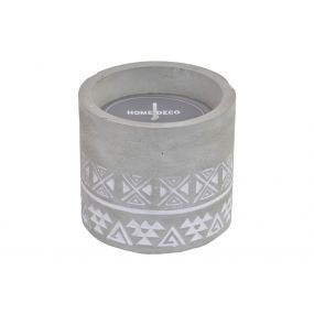 CANDLE CEMENT WAX 10X10X9,5 150 GR. BOHO GREY