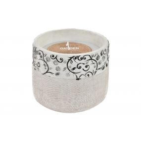 CANDLE CEMENT WAX 15X15X13 900 GR. FLORAL AGED