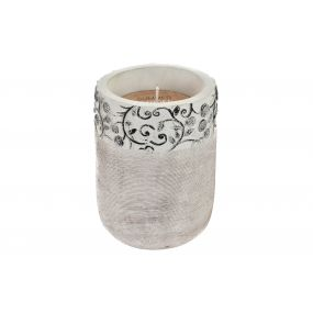 CANDLE CERAMIC WAX 10,5X10,5X15 260 GR. FLORAL