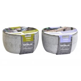 CANDLE CEMENT FRAGRANCE 19X19X10 650 GR. GREY