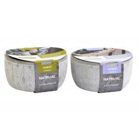 CANDLE CEMENT FRAGRANCE 14,5X14,5X7,5 280 GR. GREY