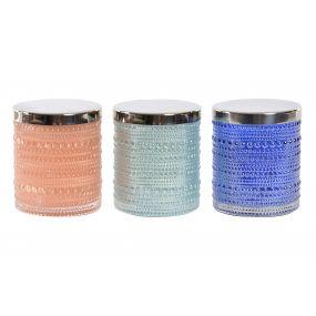 CANDLE GLASS WAX 8,3X8,3X9,5 3 MOD.