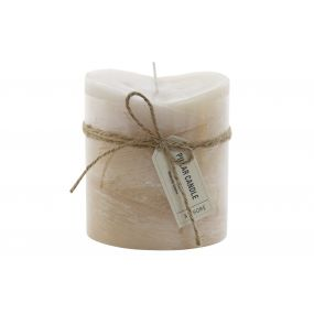 CANDLE WAX FRAGRANCE 8,7X8,7X10 BOW BEIGE