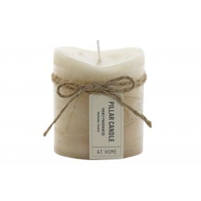 CANDLE WAX FRAGRANCE 6,8X6,8X7,5 BOW BEIGE
