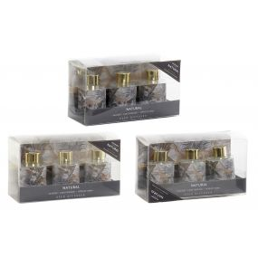 FRAGANCE DIFFUSER SET 3 GLASS 5X5X6 30 ML. / 90 ML