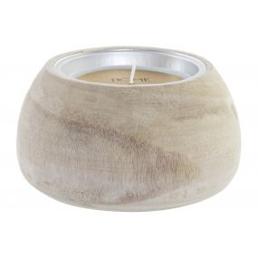 CANDLE WAX WOOD 14X14X8 NATURAL