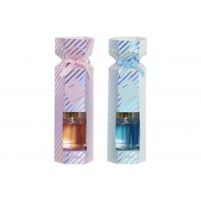 FRAGANCE DIFFUSER SET 2 GLASS 9X9X28 150 ML. 2 MOD