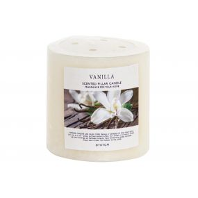 CANDLE PERFUMED 6,5X6,5X7 VANILLA CREAM