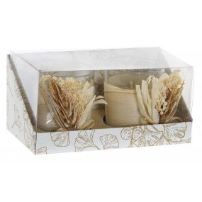CANDLE SET 2 WAX 15,5X7,5X7 1% PERFUME BRANCH