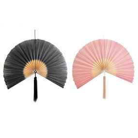 WALL DECORATION BAMBOO POLYESTER 90X4X90 2 MOD.
