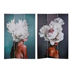 FOLDING SCREEN CANVAS 121,7X2,5X180,5 FLOWERS 2 MO