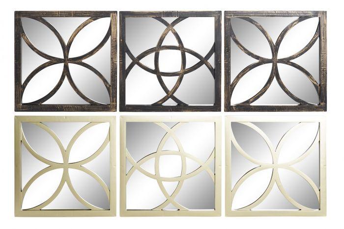 Il Mosaico E Gli Specchi 3.Specchio Set 3 Pp Cristallo 25x25 Mosaico 2 Mod