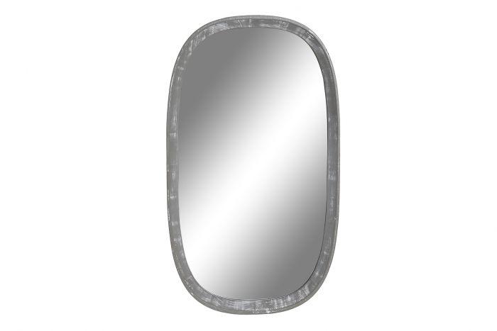 Wanddecoratie - Spiegels - Mirror wood 34x2,5x60 light gray